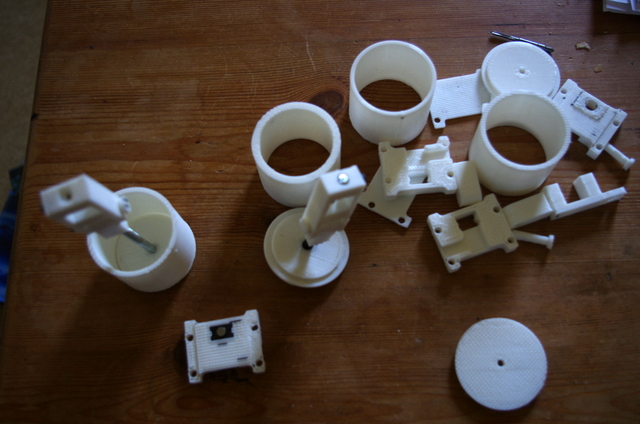 Various printed tribometer parts